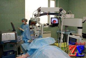 Операционное вмешательство в органы зрения