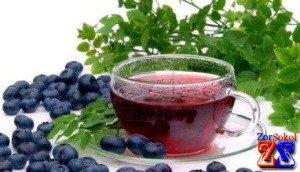 Черника и чай - замечательные средства
