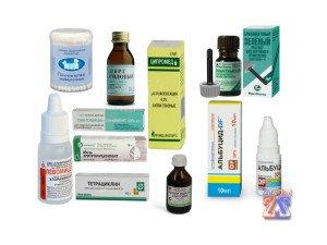 Аптечка для лечения ячменя