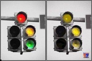 Видение светофора дальтониками