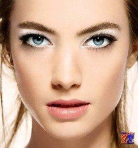 Макияж для светлых глаз (голубых и серых)