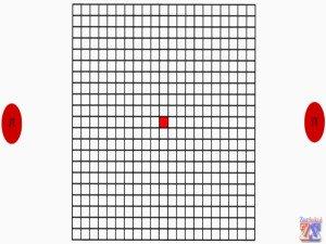 Каждым глазом по очереди посмотрите на решетку, если изменений нет - все в порядке