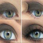 Мейкап для серо-зеленых глаз