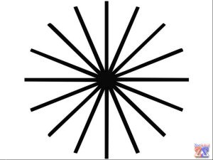Рисунок, позволяющий выявить наличие астигматической рефракции