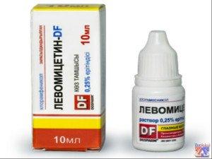 Упаковка и флакончик Левомицетина