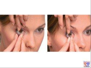 Вынимать КЛ из глаза нужно методом щипка