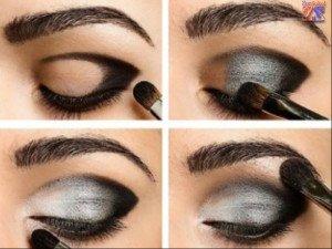 Техника выполнения дымчатого макияжа, 1 часть