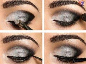 Техника выполнения дымчатого макияжа, 2 часть