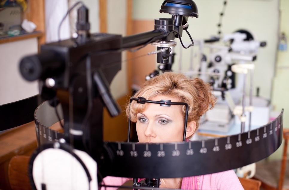 Определение полей зрения